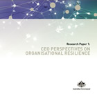 Cover image for CEO perspectives on organisational resilience.